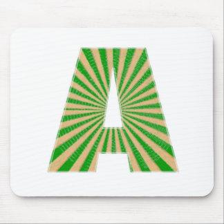 Green Lotus Leaf n Sparkle AAA Fine Alphabet Mouse Pad