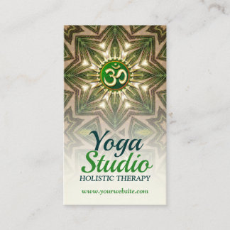 Green Love Energy Meditation Mandala Yoga Business Card