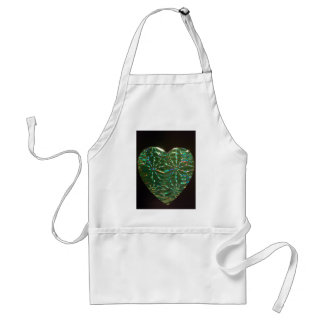 Green Love Heart Adult Apron