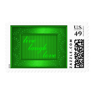 Green Love Laugh Live or Your Text Postage