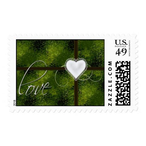 Green Love Postage