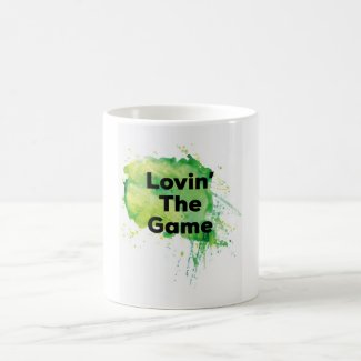 GREEN LOVING THE GAME MUG