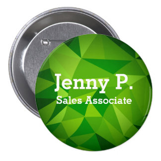 Green Low Poly Employee Name Button