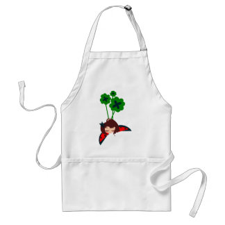 green lucky aprons