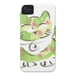 Green Lucky Cat Case-Mate iPhone 4 Case