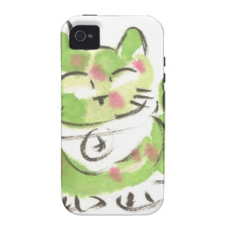 Green Lucky Cat Case-Mate iPhone 4 Covers