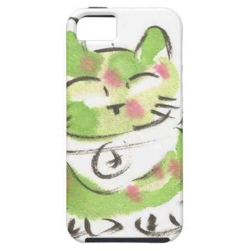 Green Lucky Cat iPhone 5 Cover