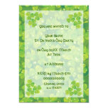 Green lucky charm clover shamrock invitatiom card