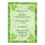 "Green lucky charm clover shamrock invitatiom 5"" x 7"" invitation card"