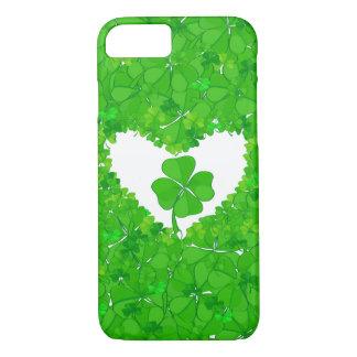 Green Lucky Shamrock iPhone 7 Case