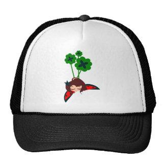 green lucky trucker hat