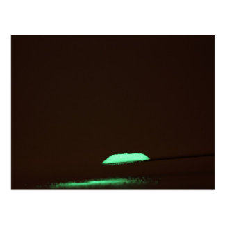 Green luminescence postcard