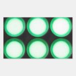 Green Luminescence Rectangular Sticker