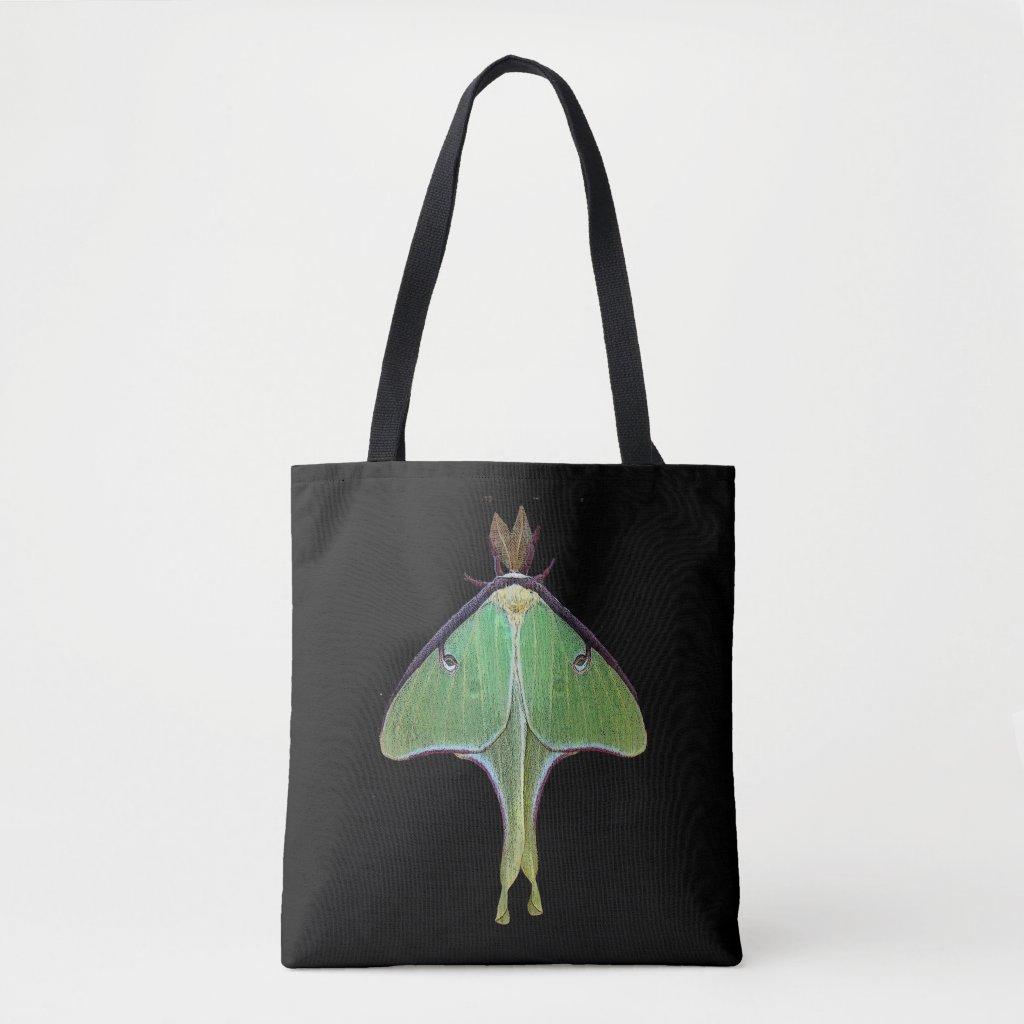 Green Luna Moth Animal Tote Bag