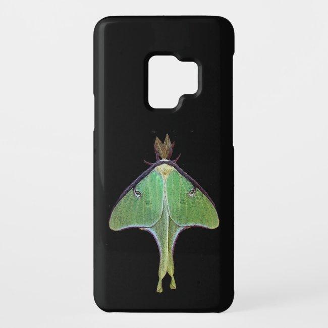 Green Luna Moth Galaxy S9 Case