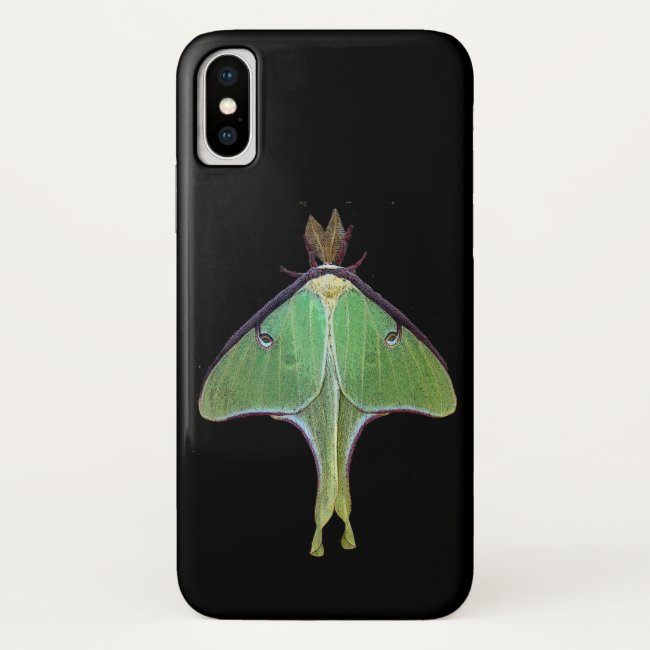 Green Luna Moth iPhone X Case