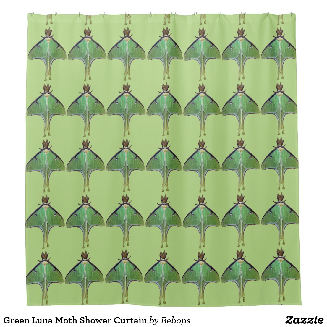 Green Luna Moth Shower Curtain