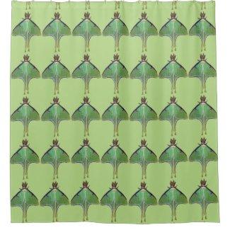 Green Luna Moth Shower Curtain