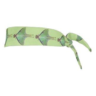 Green Luna Moth Tie Headband