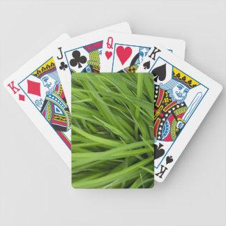 Green Lush Grass Bicycle Card Decks