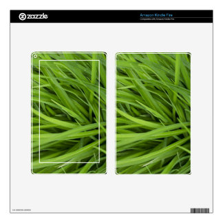 Green Lush Grass Kindle Fire Decal