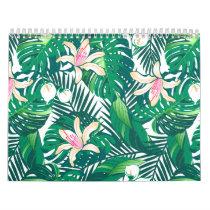 Green lush plants calendar