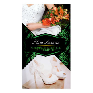 Green Luxury Custom Photography Business Card