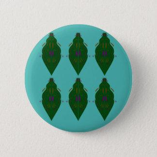 Green luxury ornaments button