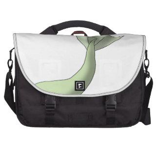 Green Macaroon Mermaid Tail Laptop Messenger Bag