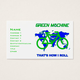 Green Machine Business Card