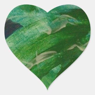 Green Machine Heart Sticker