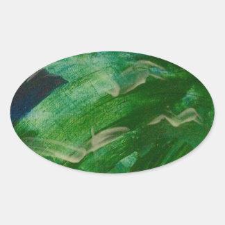 Green Machine Oval Sticker