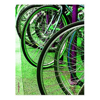 Green machines postcard