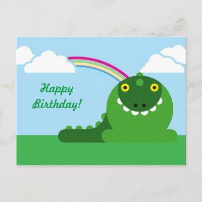 Happy Birthday Black-Dragon Green_mad_dragon_birthday_postcard-p239357507018803552qibm_400