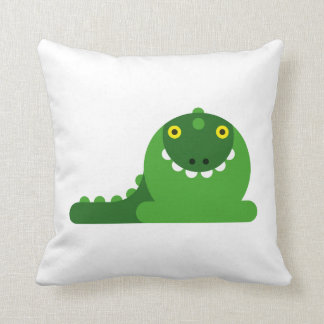 Green Mad Dragon Pillow