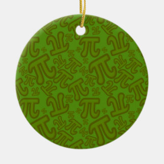 Green madness of numbers pi ceramic ornament