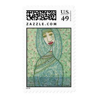 Green Madonna Stamp