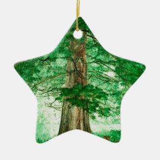 Green magic ceramic ornament