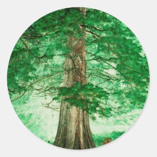 Green magic classic round sticker