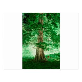 Green magic postcard