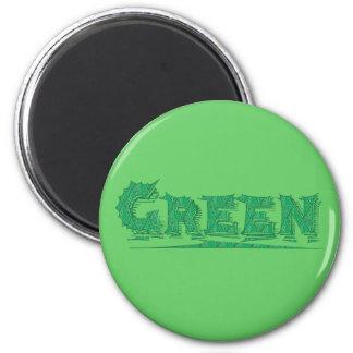Green Fridge Magnet