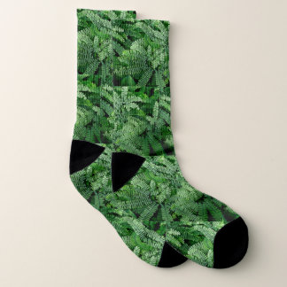 Green Maidenhair Ferns-Go Earthy Socks