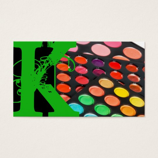 Green Make Up Artist Palette Business Card