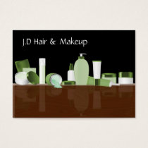 green Makeup artist Business Cards