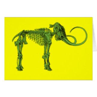 Green Mammoth Skeleton Greeting Card