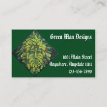 Green Man Business Cards 2 sided printing
