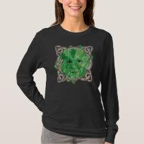 Green man_Celtic designed knotwork T-Shirt