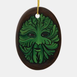 Green Man Ceramic Ornament