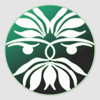 Green Man Classic Round Sticker