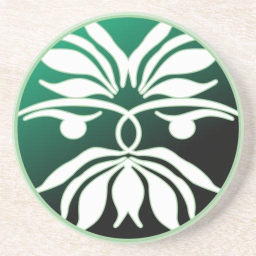 Green Man Coasters